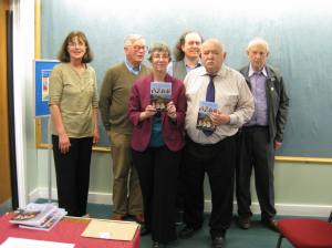 Fermanagh Authors' Association members celebrating Fermanagh Miscellany 2013's launch