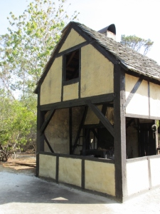Re-construction of an Elizabethan cottage