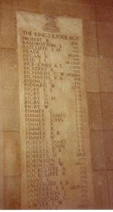 Kings Liverpool Regiment Roll of Honour