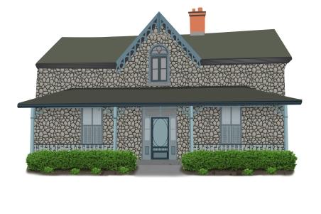 century stone house vector1