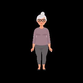 old woman transparent